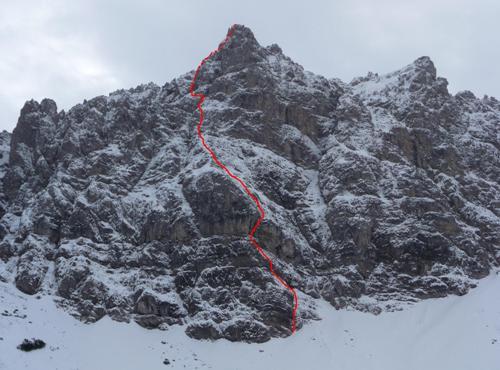 Klettersteig Lachenspitze : Klettersteig lachenspitze nordwand 12.11.09