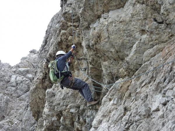 Klettersteig Lachenspitze : Klettersteig lachenspitze nordwand